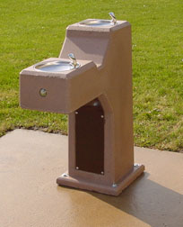 Drinking Fountain Handicap Concrete DFH-DUAL