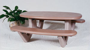 Table Oval Concrete RTOV Series