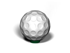 Bollards Golf Ball Concrete GOLFB30